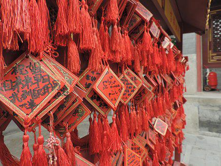 China, Chinese, Temple, Oriental, Talisman, Symbol