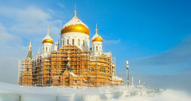 Russia, Winter, Cold, Snow, Frost, Frozen, Church