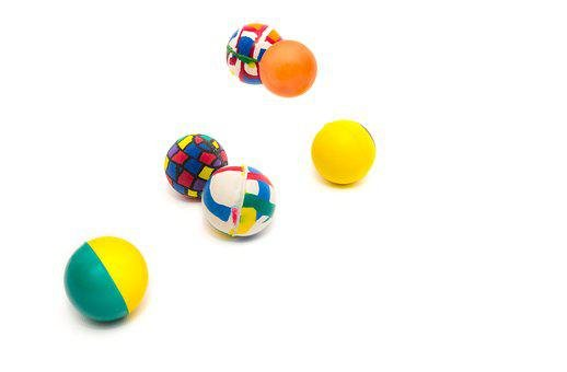 Bouncing, Balls, Rubber, Impact, Fall, Colorful