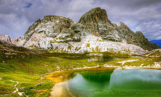 Bödensee, Dolomites, Mountains, Italy, Alpine
