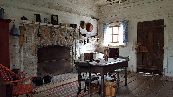 New Salem, Old House, Fireplace, Dinning Room, Historic
