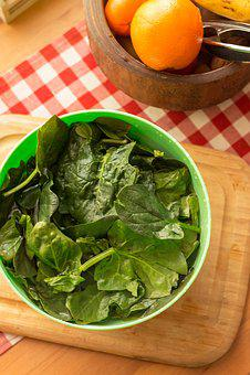 Spinach, Vegetable, Green, Health, Orange, Kitchen