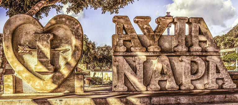 I Love Ayia Napa, Sculpture, Sightseeing, Square