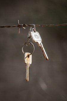 Key, Barbed Wire, Rust, Found Object, Keys