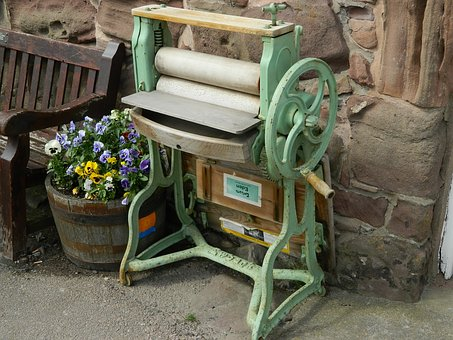 Mangle, Washing, Antique, Laundry, Iron, Vintage