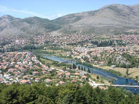 Trebinje, Leotar, Bosnia, City, Cityscape, Culture