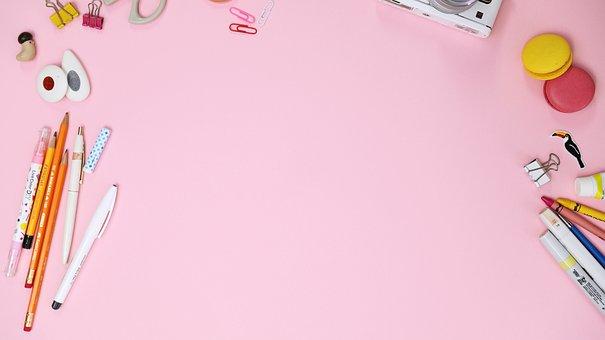 Pink, Macaroon, Colored Pencil, Camera, Clip
