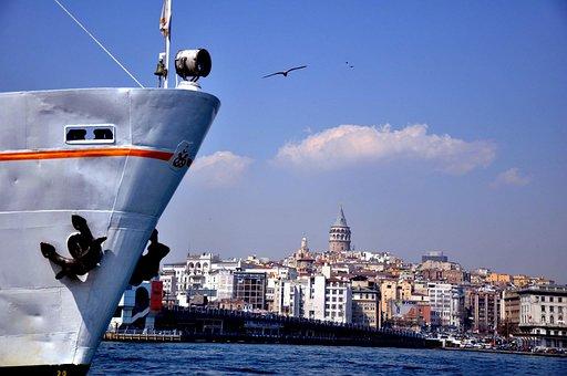 Istanbul, Galata, V, Date, Galata Bridge, Marine