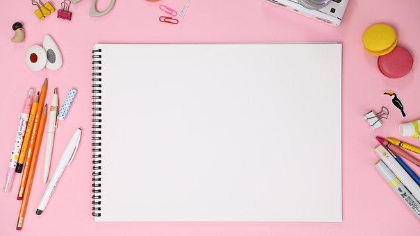 Pink, Macaroon, Sketchbook, Colored Pencil, Pen, Pencil