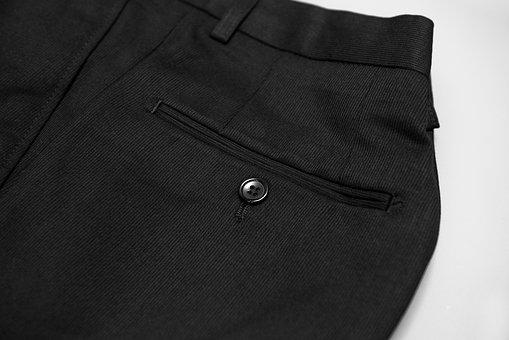 Suit Pants, Pocket, Button