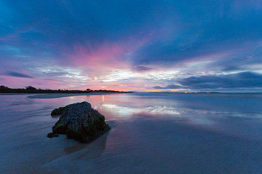Before Sunrise, Sandy, Reflection, Ujung Origin Coast