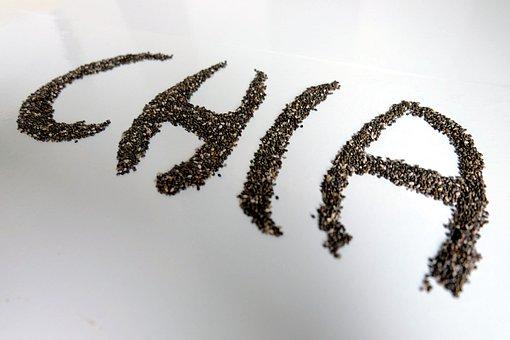 Chia Seeds, Chia, Seeds, Salvia Hispanica, Roughage