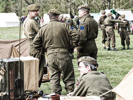 Re-enactors, Groningen, Liberation, Second World War