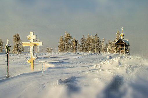 Church, Frost, Dome, Sky, Cold, Christianity, Landscape