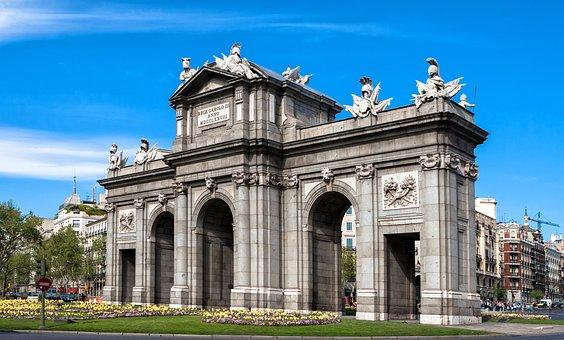 Madrid, Monument, Puerta De Alcalá, Architecture, Spain