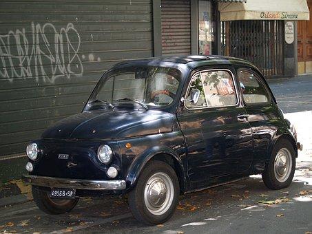 Car, Fiat, Cinquecento, Automobile, Retro, Spezzia, 500