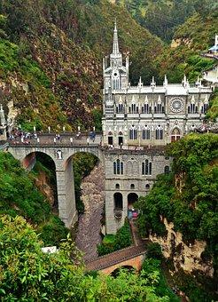 Las Lajas, Colombia, The Sanctuary, Church, Bridge