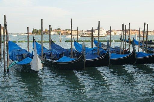Venice, Boat, Gondola, Italy, Canal, Travel, City