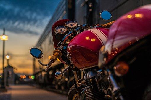 Motorcycle, Triumph, Thruxton, Cafe Racer, Motorbike