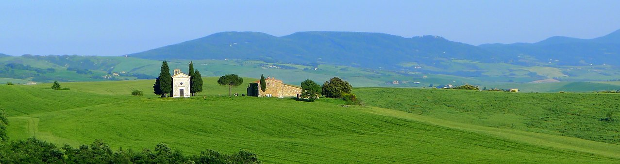 Vitaleta, Tuscany, Landscape, Orcia, Europe, Nature