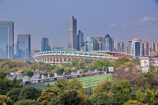 Guangzhou, Modern China, Urban, China, Building