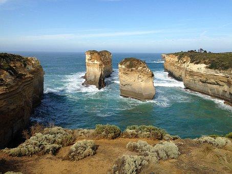 Australia, Port Cambel, Sea, Blue, View, Water, Nature