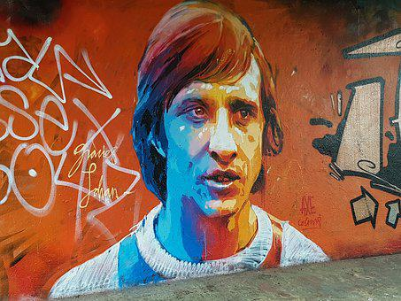 Graffiti, Johan Cruyff, Football, Street-art, Wall