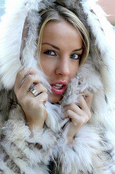 Woman, Winter, Cold, Fur, Face, Chills, Snow, Beauty