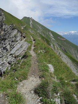 Höhenweg, Brienzer Rothorn, Hike, Hiking, Path