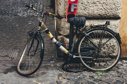Bike, Retro, Broken, Old, Nostalgia, Vintage, Wheel