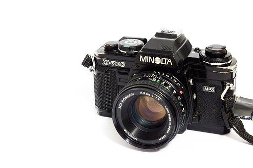 Minolta, Camera, Analog, Photographer, Photograph, Old