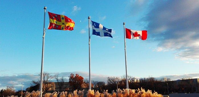 Flag, Canada, Québec, Leaf, Background, Maple, Country