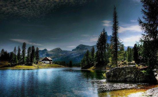 Lago Federa, Dolomites, Belluno, Mountains, Nature