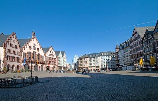 Frankfurt, Hesse, Germany, Romans, Römerberg, Old Town