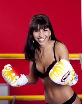 Girl, Woman, Boxing, Women, Girls, Face, Bella
