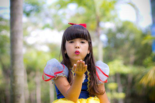 Child, Girl, Doll, Happy, Smiling, Beauty, Princess