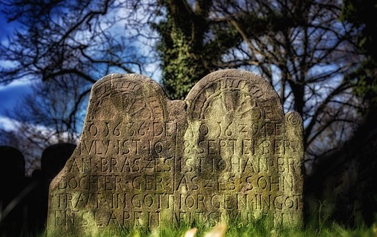 Tombstone, Grave, Cemetery, Stone, Gloomy, Mourning
