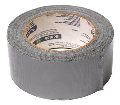 Duct Tape, Tape, Adhesive, Sticky, Gray, Silver, Repair