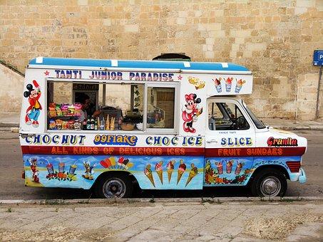 Ice Cream, Ice, Ice Cream Truck, Ice Cream Sales