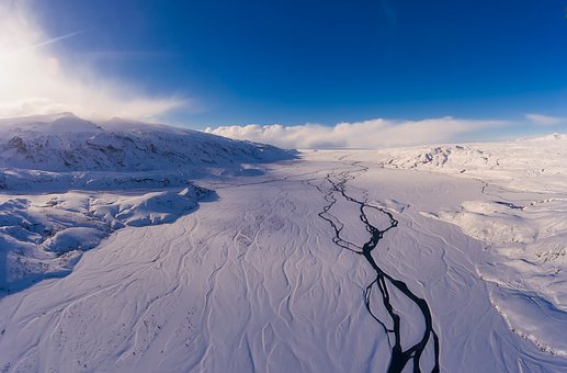 Iceland, Landscape, Snow, Winter, Ice, Mountains, Sky