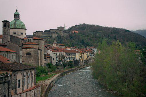 Village, Italy, Old Town, River, Medieval Village