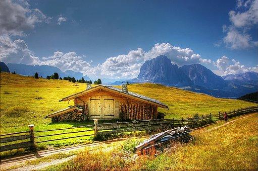 Dolomites, Sassolungo, Mountains, Italy, South Tyrol