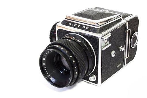 Camera, Analog, Medium Format, Russian, Kiev