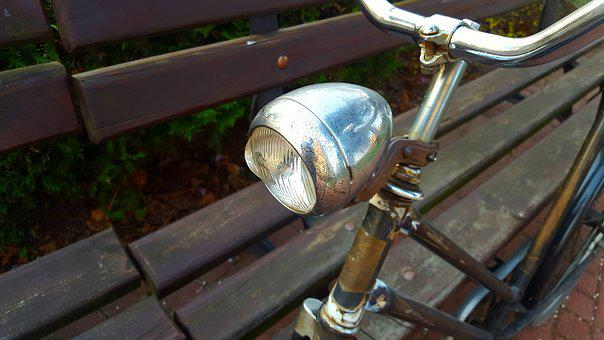 Replacement Lamp, Bike, Metal, Photos, Old