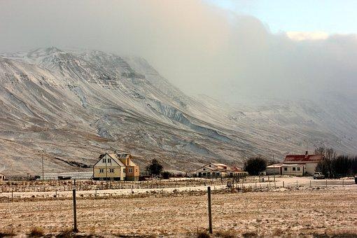 Mountain, House, Mist, Nature, Landscape, Building