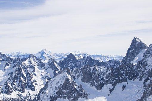 Alps, Mountain, Peaks, Nature, Snow, Landscape, Winter