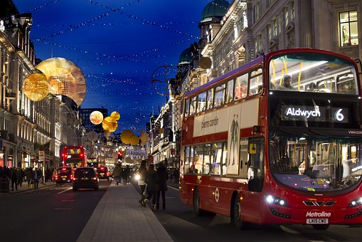Regent Street, Christmas, Night