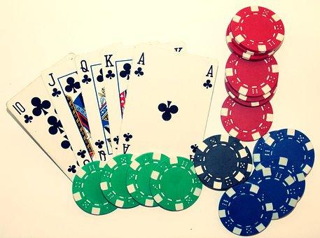 Poker, Casino, Royal Flush, Card Game, Winner