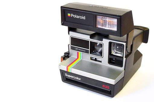 Camera, Polaroid, Analog, Hipster, Studio, White, Photo