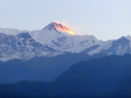 Mountain, Nepal, Porkara, Himalayas, Nature, Sunrise